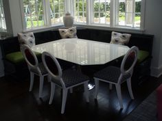 White Backpainted Glass Table Top