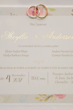 Una unión para toda la vida #matrimoniocompe #bodasperu #aros #invitacionesboda #partesmatrimoniales #joyas #arosdematrimonio #alianzas Place Cards, Place Card Holders, Wedding Invitations, Weddings