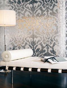 Damasco Bianco mosaic de Bisazza