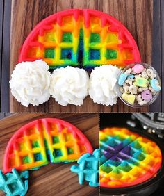 Rainbow Waffles #coloreveryday #rainbow