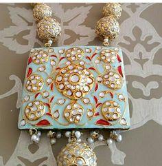 #kundan # meenakari #ethnic #neckpiece # handcrafted # jaipurjewellery # jewellery #indian jewellery #traditional