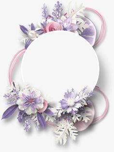 Flowers decorative circular border lemon PNG Image