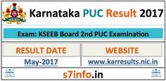 karresults.nic.in – Karnataka PUC Result 2017, 2nd PUC Results 2017 – KSEEB