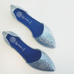 """Jeffrey Campbell Silver Jelly Love D'orsay Flat The cutest glitter flats and stylish throwback to your childhood jellies.  Super comfortable. Gently worn. Cushioned insole. Heel height: 0.5"""" Jeffrey Campbell Shoes Flats & Loafers"""