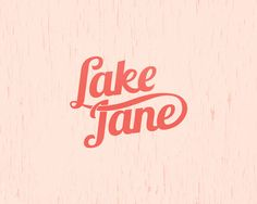 <3 the lettering + colorway of Nicole Meyer's logo for Lake Jane (http://branding10000lakes.com/)