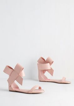 Betsey Johnson Posh Star Sandal in Blush by Betsey Johnson - Pink, Solid, Bows, Wedding, Daytime Party, Bridesmaid, Bride, Luxe, Statement, Best, Variation