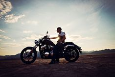 Dry Lake Bed- Adrian and his motorcycle  - Blog -