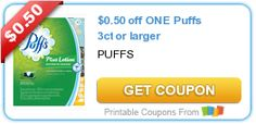 $0.50 off ONE Puffs 3ct or larger