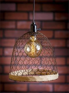 Shelley B Home and Holiday - Vintage Chicken Wire Lamp with Edison Bulb, $43.50 (http://shelleybhomeandholiday.com/vintage-chicken-wire-lamp-with-edison-bulb/)