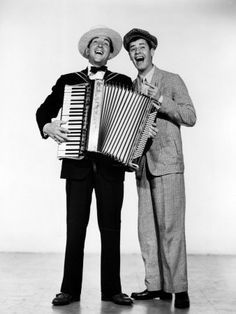 Dean Martin born Dino Paul Crocetti, plays accordion with Jerry Lewis, 1952 Jerry Lewis, Dean Martin, The Cooler Movie, Accordion Music, Polka Music, Cool Posters, Movie Posters, The Stooges, Music Illustration
