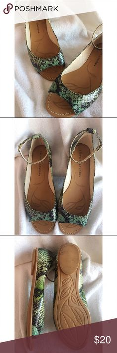 Chinese Laundry Flats Thus super cute pair of Chinese Laundry Flats are a size 8 and in good condition. They buckle around the ankle with a gold buckle. They gave a leather lining and the soles, as shown in picture show small amount of wear. Chinese Laundry Shoes Flats & Loafers