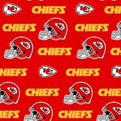 Fabric Traditions NFL Cotton Broadcloth Kansas City Chiefs Fabric by the Yard, Red/Yellow Kansas City Chiefs Football, Nfl Football Teams, Nfl Chiefs, Yellow Quilts, Yellow Fabric, Stethoscope Cover, Fabric Letters, Thing 1, Before Midnight