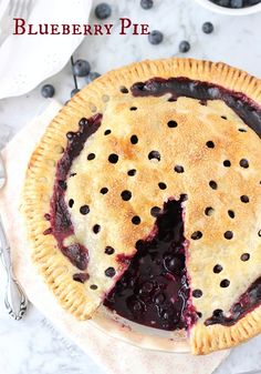 Blueberry Pie - Blahnik Baker
