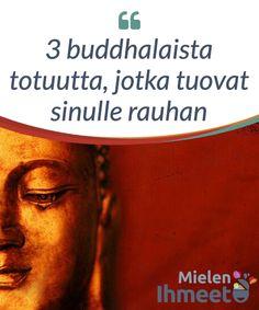 3 buddhalaista totuutta, jotka tuovat sinulle rauhan.  #Saatat usein ajatella, että elämä on sinua #kohtaan epäreilu, ja ettei ponnistelusi epäreilun tilanteen muuttamiseksi tunnu johtavan positiivisiin #tuloksiin. Tänään haluaisin kutsua sinut hengittämään syvään, #katsomaan sisälle itseesi ja #löytämään kolme buddhalaisen perinteen mukaista totuutta, jotka voivat saada sinut tuntemaan olosi paremmaksi. Joy And Happiness, Note To Self, Insomnia, Things To Think About, Spirituality, Health Fitness, Stress, Motivation, Words