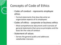 Code of ethics examples google search codes of ethics for Company code of ethics template