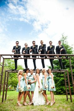 We've said it before and we'll say it again ~ we LOVE Wedding Party pics with some spunk ;) Photography by
