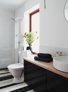 Black And White Bathroom Via Nordic Design Photo By Henrik Bonnevier Spa
