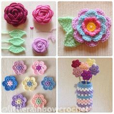 I love making flowers  so I thought I'd join in with the #ldjcrochethookup as it's #flowers today..these are some of my most recent floral makes  #crochet #crochetnowmag #crochetflowers #instacrochet #crochetlove #handmade #handmadeflowers  #crocheted #imadethese #crochetersofinstagram #prettythings #africanflowers #roses #crochetroses #attic24  #blooms #colourfulcrochet #colourful #colourlove #flowerlove #craftsposure #littlerainbowcrochet by littlerainbowcrochet