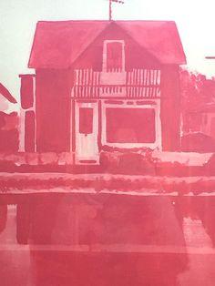 Litte Venice Red | Artwelike Pintura acrílica sobre papel.