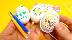 Easter Eggs Coloring - Decoration Dye with Pens & Shapes