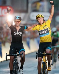 Will we see this again in a few weeks? #TdF #ChrisFroome #YellowJersey