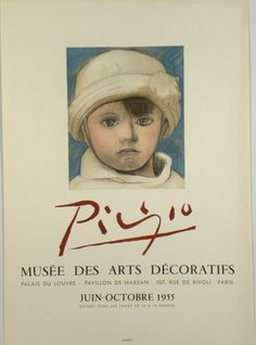Original Künstler Plakat Picasso Original Artist Poster Picasso Affiche original Picasso  title picasso  technology Color light print and color lithography
