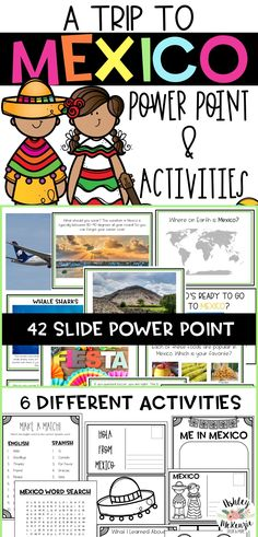 Take your students on a fun trip to Mexico! This is a great Cinco De Mayo Activity or a fun way to teach about the country of Mexico.