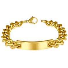 Stunning gold plated stainless steel men's ID bracelet #mensfashion #jewellery #mens #trend