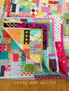 crazy mom quilts: scrap vortex