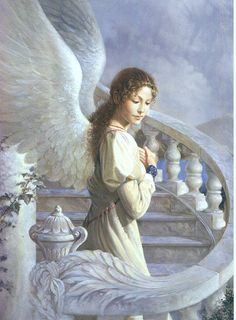 Birthday Card Angel on the Stairway to Heaven by purplegothicqueen, via Flickr