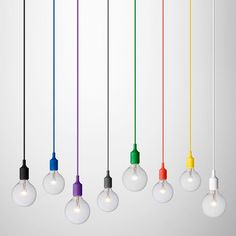 Lampara de Techo Colgante Cables Colores