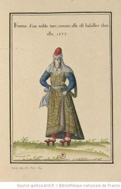 [Ensemble de gravures de costumes de Turquie du XVIe siècle] : [estampe] Auteur : Amman, Jost (1539-1591). Graveur Auteur : Bruyn, Abraham de (1540-1587). Graveur Date d'édition : 1577 Sujet : Costume -- Turquie Format : 116 gravures coloriées ; formats divers Droits : domaine public Identifiant : ark:/12148/btv1b69373991 Amman, Bnf, Ottoman Empire, Gravure, Historical Clothing, Fashion Plates, 17th Century, Vintage Images, Printmaking