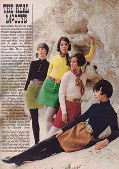 Seventeen Magazine editorial shot by Joseph Santoro 1968 | 60s mod fashion