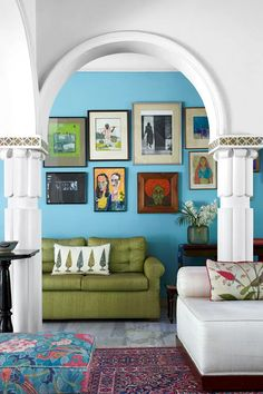Seating Area - Colours of India Living Room Flooring, Living Room Paint, Living Room Grey, Living Room Furniture, Living Room Decor, Good Living Room Colors, Living Room Color Schemes, Living Room On A Budget, Blue Lounge