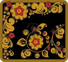 Illustration of a russian traditional painting style Stock Photo - 5709043
