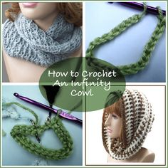 HOW TO CROCHET AN INFINITY COWL A Simple Twisted Crocheted Cowl or Scarf — From: http:// crochetncrafts.com/crochet/tutorials/how-to-crochet-an-infinity-cowl.html