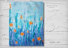 Acrylmalerei - Acrylbild auf Papier **Wasserwelt** - ein Designerstück von SoMa-Art bei DaWanda
