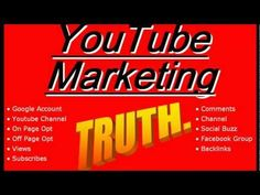 Http://andrewtwelftree.com/youtube-marketing-youtube-ranking Youtube marketing is becoming all the rage lately, the simple fact is that it is much simpler to get youtube ranking for your video's than it is to rank a blog post in google.  The added bonus is that your youtube marketing efforts will by default rise your video's ranking in google al...