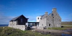 The White House by WT Architecture. Isle of Coll, Scotland, was built in the ruins of a house abandoned 150 years earlier. White House Architecture, Amazing Architecture, Modern Architecture, Vernacular Architecture, Residential Architecture, Beautiful Homes, Building A House, Old Things, New Homes