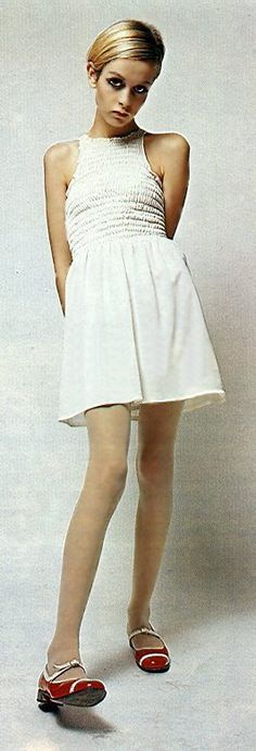 Twiggy; such a sweet dress for a skinny girl