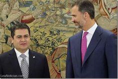 """El Rey Felipe felicita al presidente de Honduras por su """"determinación para combatir el narcotráfico"""" - http://www.leanoticias.com/2014/10/01/el-rey-felipe-felicita-al-presidente-de-honduras-por-su-determinacion-para-combatir-el-narcotrafico/"""