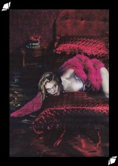 W magazine shoots Natalia Vodianova in a What Katie Did Harlow bullet bra. Styled by Edward Enninful and photographed by Mert Alas & Marcus Piggett.