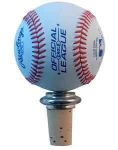 Baseball Wine Bottle Stopper  A gift that combines a passion for sports with a passion for wine.  For the baseball fanatic:  an authentic baseball on a reusable cork. $25.95