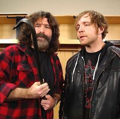 Dean Ambrose and Mick Foley raw March 14 2016 Jonathan Lee, Wwe Dean Ambrose, Mick Foley, Wwe Tna, Wwe Wrestlers, Professional Wrestling, Wwe Superstars, Guilty Pleasure, Man Alive