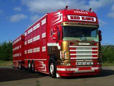 Road Train, Cool Trucks, Livestock, Airbrush, Cattle, Trailers, Cars, Vehicles, Volvo Trucks