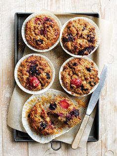 Photography: Chris Court Power Breakfast, Banana Breakfast, Breakfast On The Go, Breakfast Muffins, Breakfast Recipes, Healthy Muffin Recipes, Healthy Baking, Baby Food Recipes, Cooking Recipes