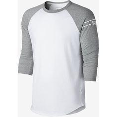 Converse Famous Raglan Men's T-Shirt. Nike.com ($30) ❤ liked on Polyvore featuring men's fashion, men's clothing, men's shirts, men's t-shirts, mens raglan shirts, mens t shirts and mens raglan t shirt