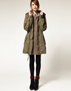 Green parka is a must.