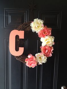 Wreath for front door for spring