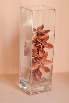 DIY orgami flowers, so cute and cheap!